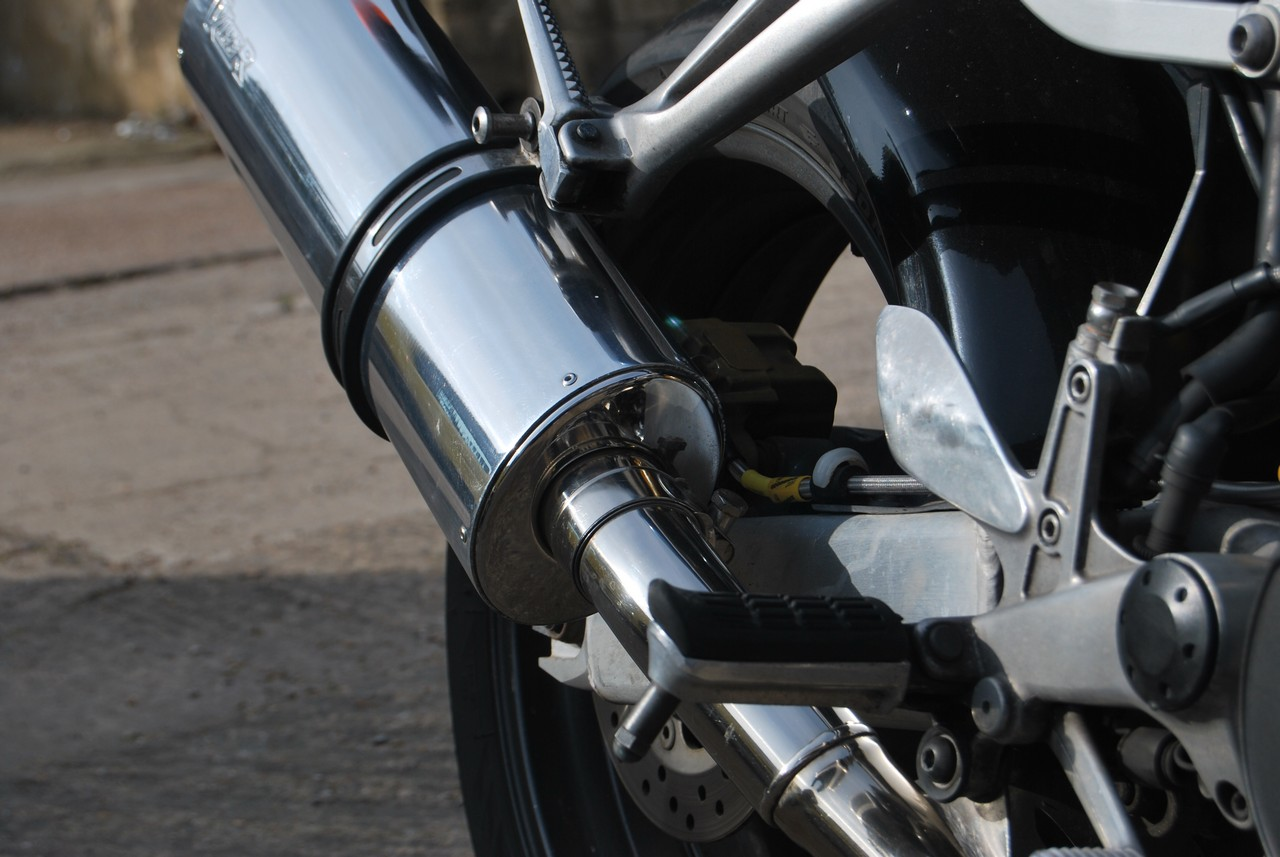 Example of our work mirror polished motorcycle exhaust