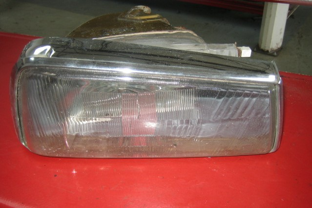Photo of headlamp reflector failed MOT