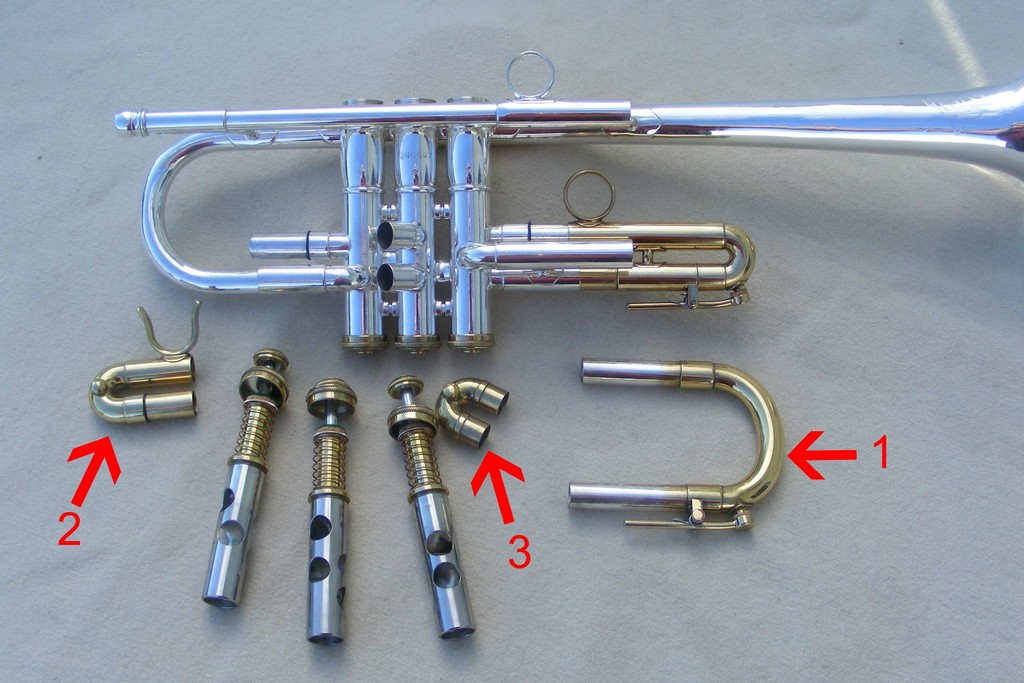 Photo of customers trumpet that requires re-silvering.
